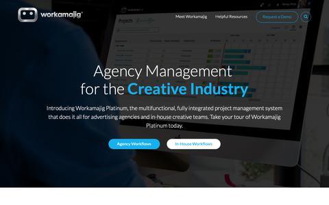 Screenshot of Home Page workamajig.com - Workamajig   Project Management Software for Marketing Teams - captured April 30, 2019