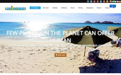 Screenshot of Home Page los-roques.com - Los Roques - captured Oct. 3, 2014