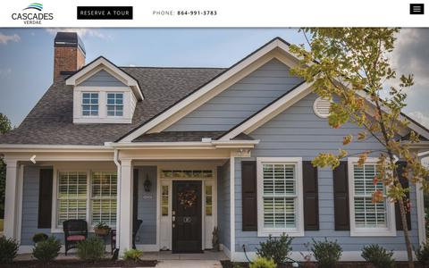 Screenshot of Home Page cascades-verdae.com - Cascades Verdae Life Plan Retirement Community located in Greenville, SC - captured July 16, 2018