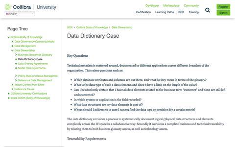 Screenshot of Case Studies Page collibra.com - Data Dictionary Case – Collibra University - captured Feb. 12, 2020