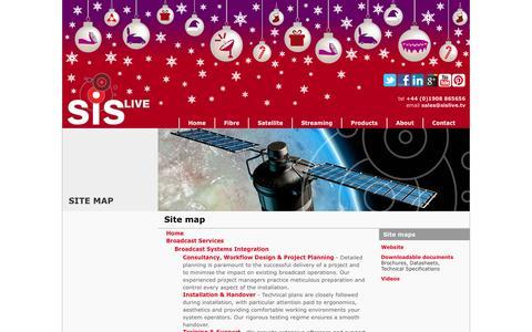 Screenshot of Site Map Page sislive.tv - Sitemap - SIS LIVE - captured Dec. 19, 2015
