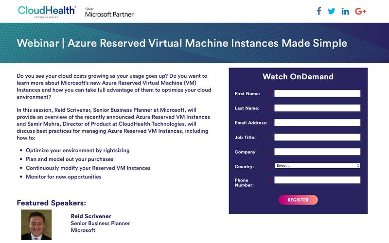 Webinar | Azure Reserved Virtual Machine Instances Made Simple