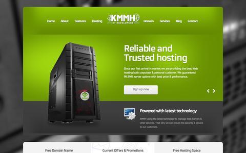 Screenshot of Home Page kmmh.net - KMMH : Web Hosting, Domain, Web Design, Ecommerce - captured Aug. 6, 2015