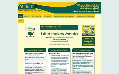 Screenshot of Home Page agency-broker.com - Do you want to sell an insurance agency? | Agency-Broker.com - captured Jan. 26, 2015