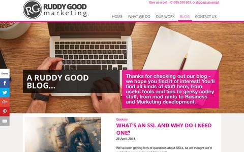 Screenshot of Blog ruddygood.com - Blog - Ruddy Good Marketing - captured Oct. 22, 2018