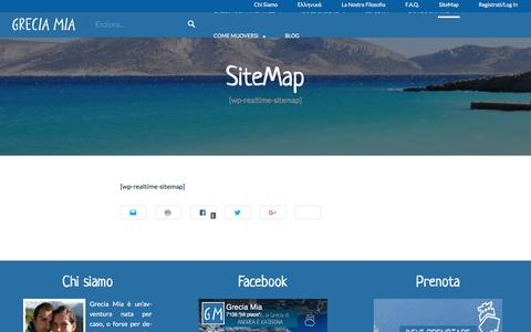 Screenshot of Site Map Page greciamia.it - SiteMap   Grecia Mia - captured May 22, 2017