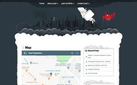 Screenshot of Maps & Directions Page prodpop.com - Map | Pop! Productions - captured Sept. 28, 2018