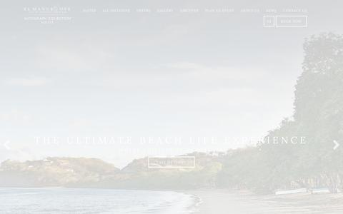 Screenshot of Home Page elmangroove.net - Papagayo Guanacaste Hotel | El Mangroove Hotel - captured March 21, 2018