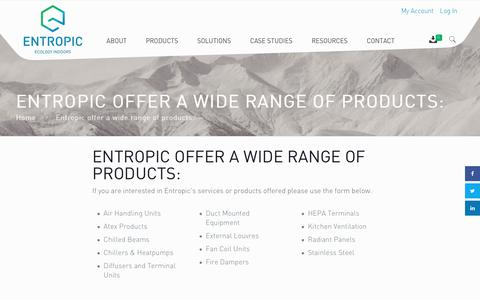 Screenshot of Login Page entropic.ie - Entropic offer a wide range of products: - Entropic - captured Nov. 10, 2018