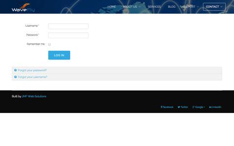Screenshot of Login Page jmfsolutions.net - login - captured Sept. 30, 2014