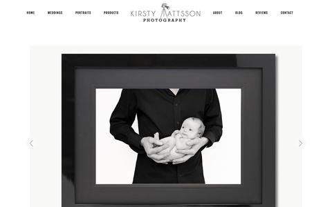 Screenshot of Products Page kmattssonphotography.com - Wall Art - Yorkshire Wedding Photographer Kirsty Mattsson - captured Nov. 1, 2018