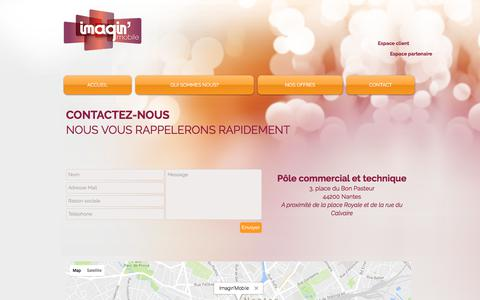 Screenshot of Contact Page imaginmobile.fr - Imagin'Mobile | CONTACT - captured June 7, 2017