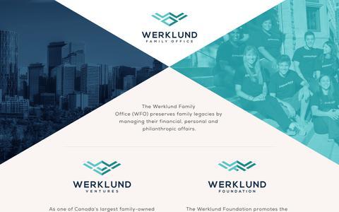 Screenshot of Home Page werklund.com - Werklund Family Office - captured Oct. 18, 2018