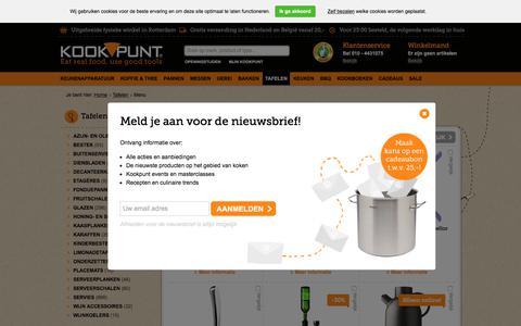 Screenshot of Menu Page kookpunt.nl - Menu wijnaccessoires kopen | Kookpunt - captured Sept. 23, 2018