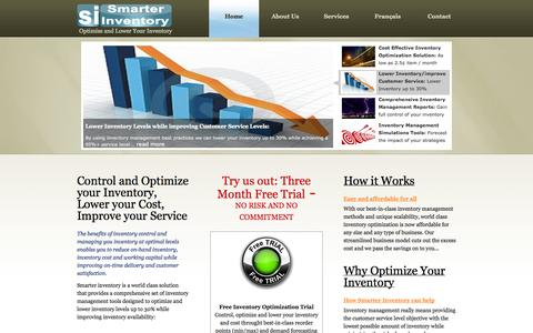 Screenshot of Home Page Site Map Page smarterinventory.com - Optimize Inventory   Control and Lower Inventory   Smarter Inventory - captured Sept. 30, 2014