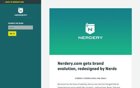 Screenshot of Blog nerdery.com - Nerdery Blog - - captured Feb. 1, 2016