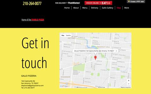 Screenshot of Maps & Directions Page gallopizzeria.com - gallo | Map - captured May 15, 2017