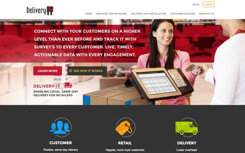 Screenshot of Home Page delivery-it.com - Delivery-IT - Delivery-IT - captured Oct. 5, 2014