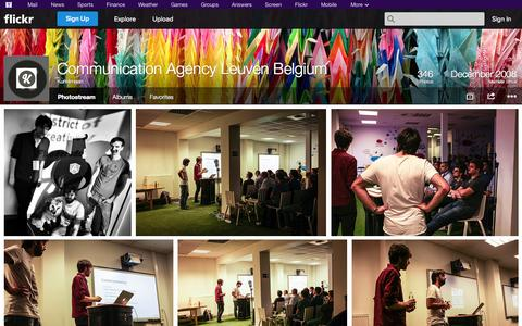 Screenshot of Flickr Page flickr.com - Flickr: Kunstmaan's Photostream - captured Oct. 23, 2014