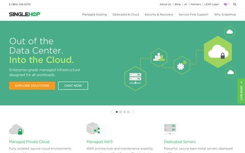 Screenshot of Home Page singlehop.com - SingleHop: Managed Server Hosting Solutions & Services - captured Feb. 19, 2017