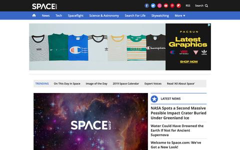 Screenshot of Home Page space.com - Space.com: NASA, Space Exploration and Astronomy News - captured Feb. 12, 2019