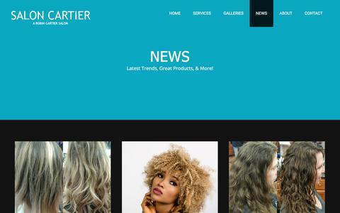 Screenshot of Blog Press Page saloncartier.com - NEWS - Salon - captured July 27, 2018