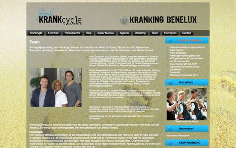 Screenshot of Team Page krankcycle.nl - Krankcycle: Team - captured Oct. 8, 2014