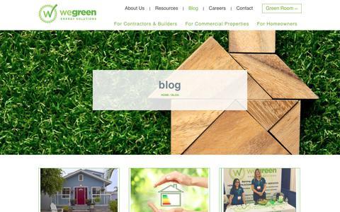 Screenshot of Blog wegreeninc.com - We Green Blog: Learn More About Energy Efficiency in California - captured Dec. 10, 2018
