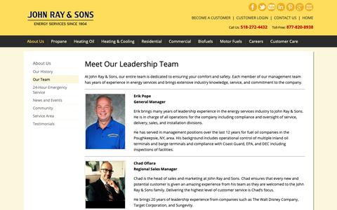 Screenshot of Team Page johnray.com - Management and Sales Personnel | John Ray & Sons - captured Oct. 14, 2018