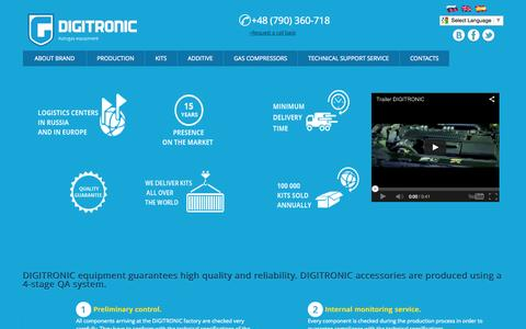 Screenshot of Home Page digitronicgas.com - DIGITRONIC – all components of automotive gas systems for LPG and CNG - captured Oct. 5, 2014