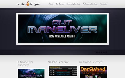 Screenshot of Home Page renderdragon.com - renderDragon Games - captured Oct. 8, 2014