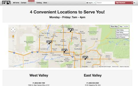 Screenshot of Locations Page bpisite.com - BPI · Map - captured Oct. 5, 2014