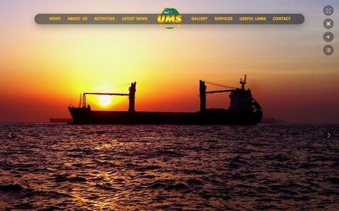 Screenshot of Home Page ums.com.eg - Latest News - Suez Canal Authority, Security, Shipchandler, Damietta Ports of Egypt - captured Oct. 3, 2014