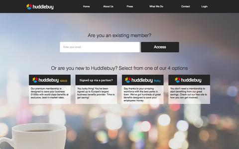 Screenshot of Home Page huddlebuy.co.uk - Find the best b2b business deals for small businesses from trusted brands. Hot deals on business marketing online, website designing services, business leads and PR - captured Sept. 16, 2014