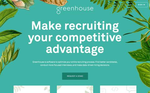 Screenshot of Home Page greenhouse.io - Recruiting Software - Applicant Tracking System | Greenhouse - captured Nov. 5, 2015
