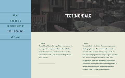 Screenshot of Testimonials Page oakstfoods.com - Testimonials | Oak Street Foods - captured Oct. 23, 2017