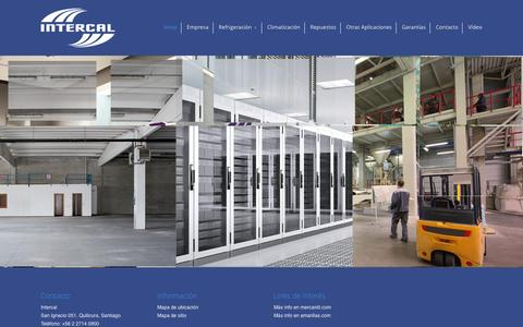 Screenshot of Home Page intercal.cl - Inicio | Intercal - captured Feb. 13, 2016