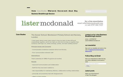 Screenshot of Case Studies Page wordpress.com - Case Studies | - captured Sept. 12, 2014