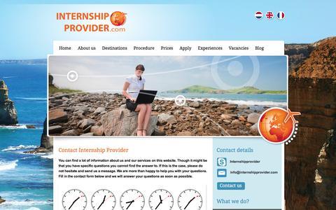 Screenshot of Contact Page internshipprovider.com - Contact Internship Provider - Internship Provider - educational internships abroad - captured June 8, 2017