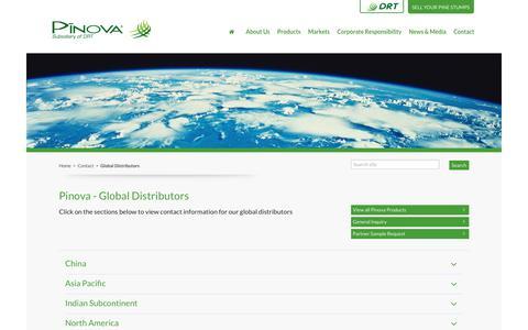 Screenshot of Locations Page pinovasolutions.com captured Sept. 28, 2018
