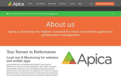 Screenshot of About Page apicasystem.com - Apica | Web Performance Company - captured Sept. 13, 2014