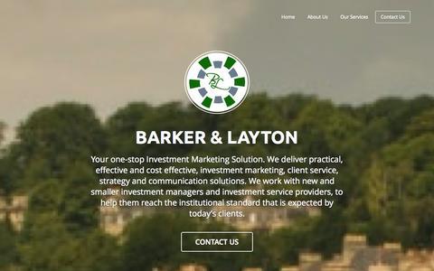 Screenshot of Home Page barkerandlayton.com captured Oct. 5, 2014