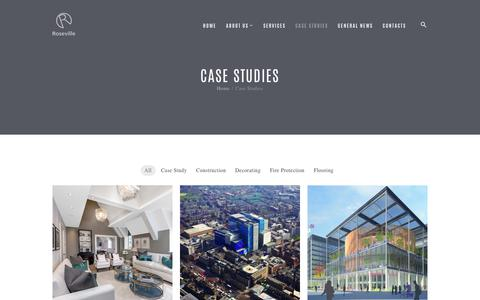 Screenshot of Case Studies Page roseville.co.uk - Case Studies – Roseville Projects - captured Oct. 23, 2017