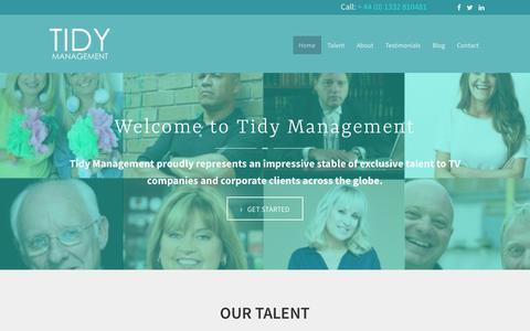Screenshot of Home Page tidymanagement.com - Welcome to Tidy Management - Tidy Management - captured March 4, 2018