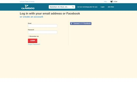 Screenshot of Login Page camperoo.com - Login - captured Dec. 17, 2014