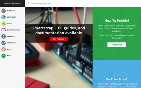 Screenshot of Developers Page getpebble.com - Pebble Developers - captured Nov. 10, 2015