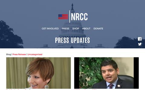 Screenshot of Blog nrcc.org - Press Updates - NRCC - captured Oct. 18, 2017