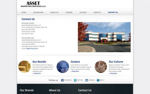 Contact Us   Asset Marketing Services, LLC