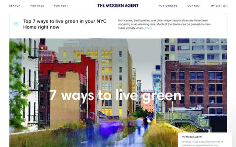 Screenshot of Press Page themodernagent.com - Get the latest New York real estate news as it happens. Information on new properties, tips on selling and renting your home. | The Modern Agent - captured Oct. 23, 2017