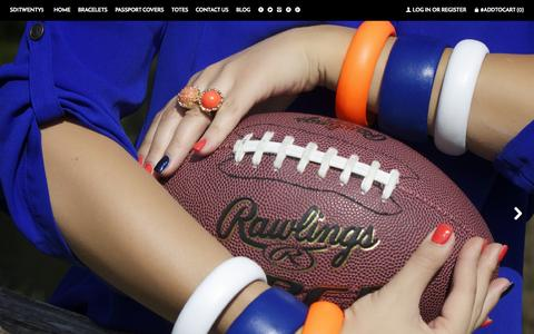 Screenshot of Home Page sd1twenty5.com - Handmade Leather Bracelets, Bangles, Passport Cases and accessories ~ sd1Twenty5 - captured Aug. 16, 2015
